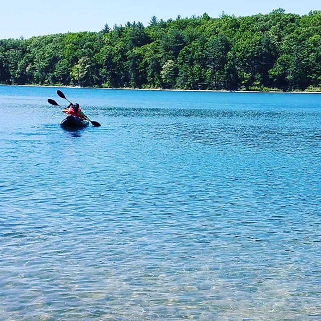 Kayaking in Walden Pond
